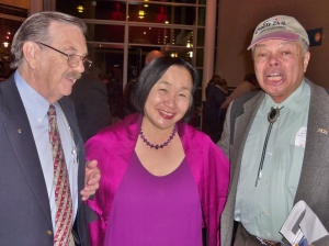Mayor Quan with friends at Chabot event