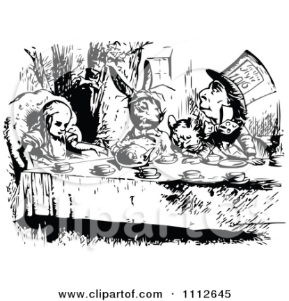 Vintage Alice In Wonderland Clip Art 29